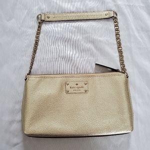 Kate Spade Gold Wellesley Byrd Shoulder Bag
